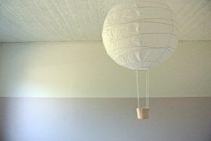 Luftballongslampa – DIY