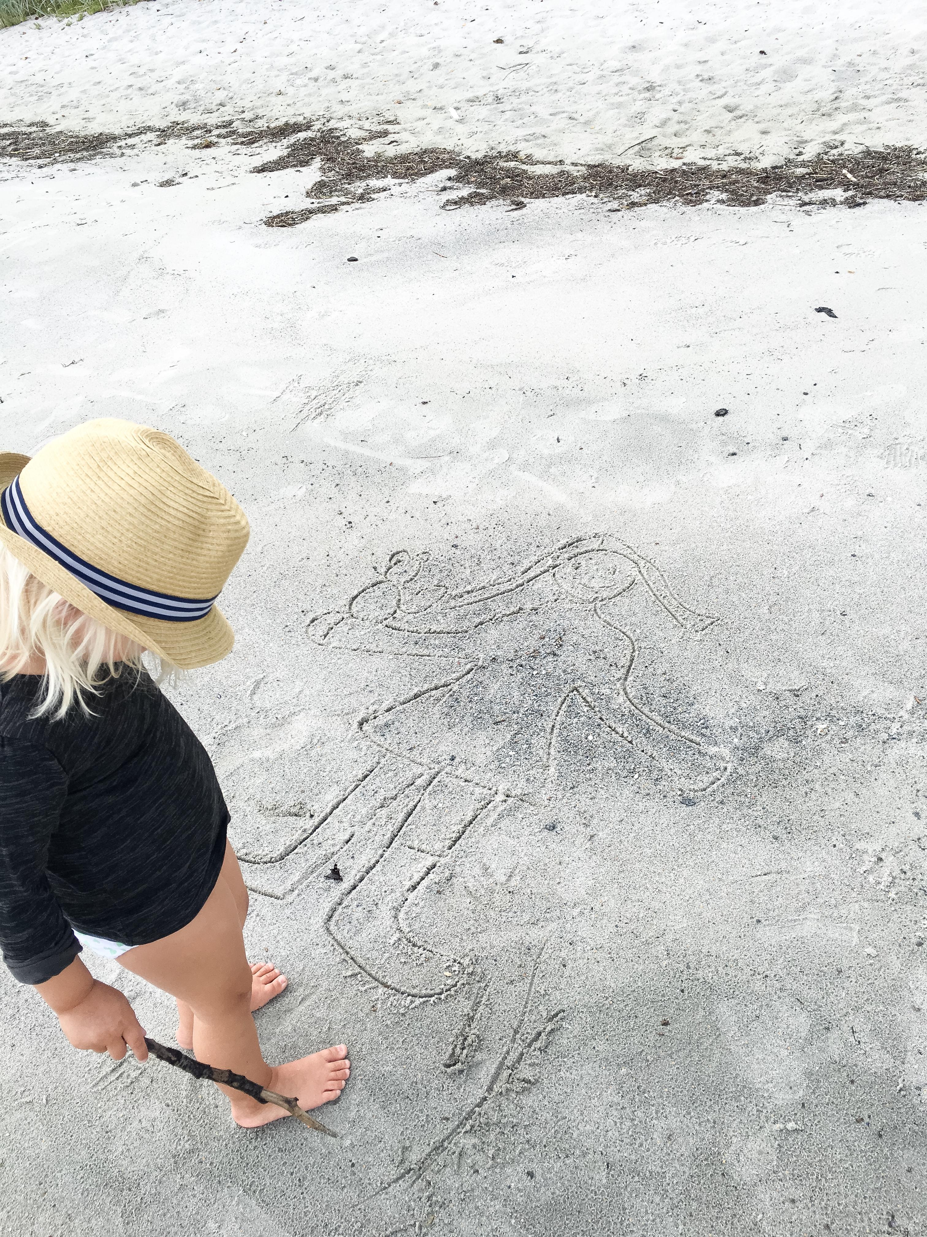 Vid tar en dag på stranden