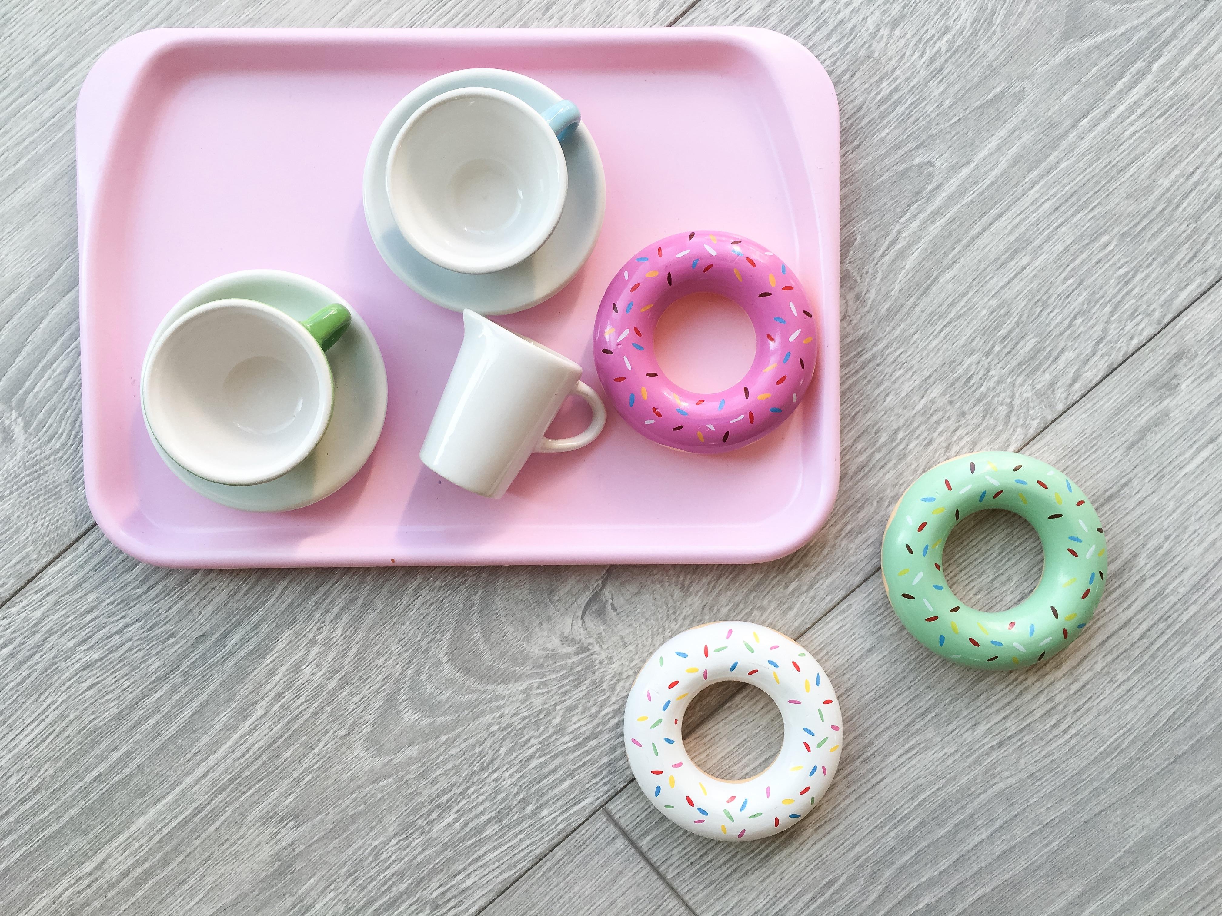 Mer till leksaksköket – donuts i trä