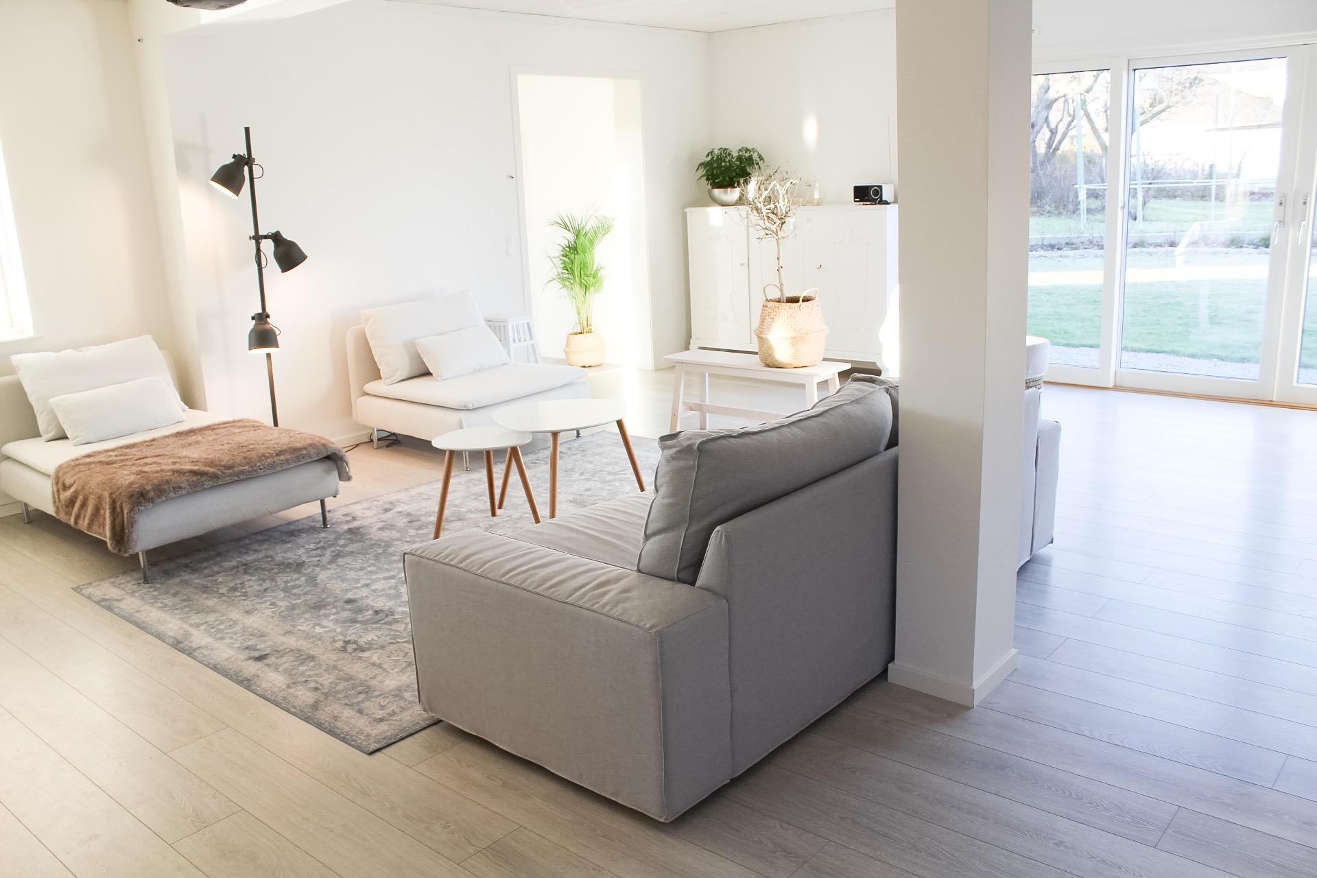 Vardagsrummet tar form