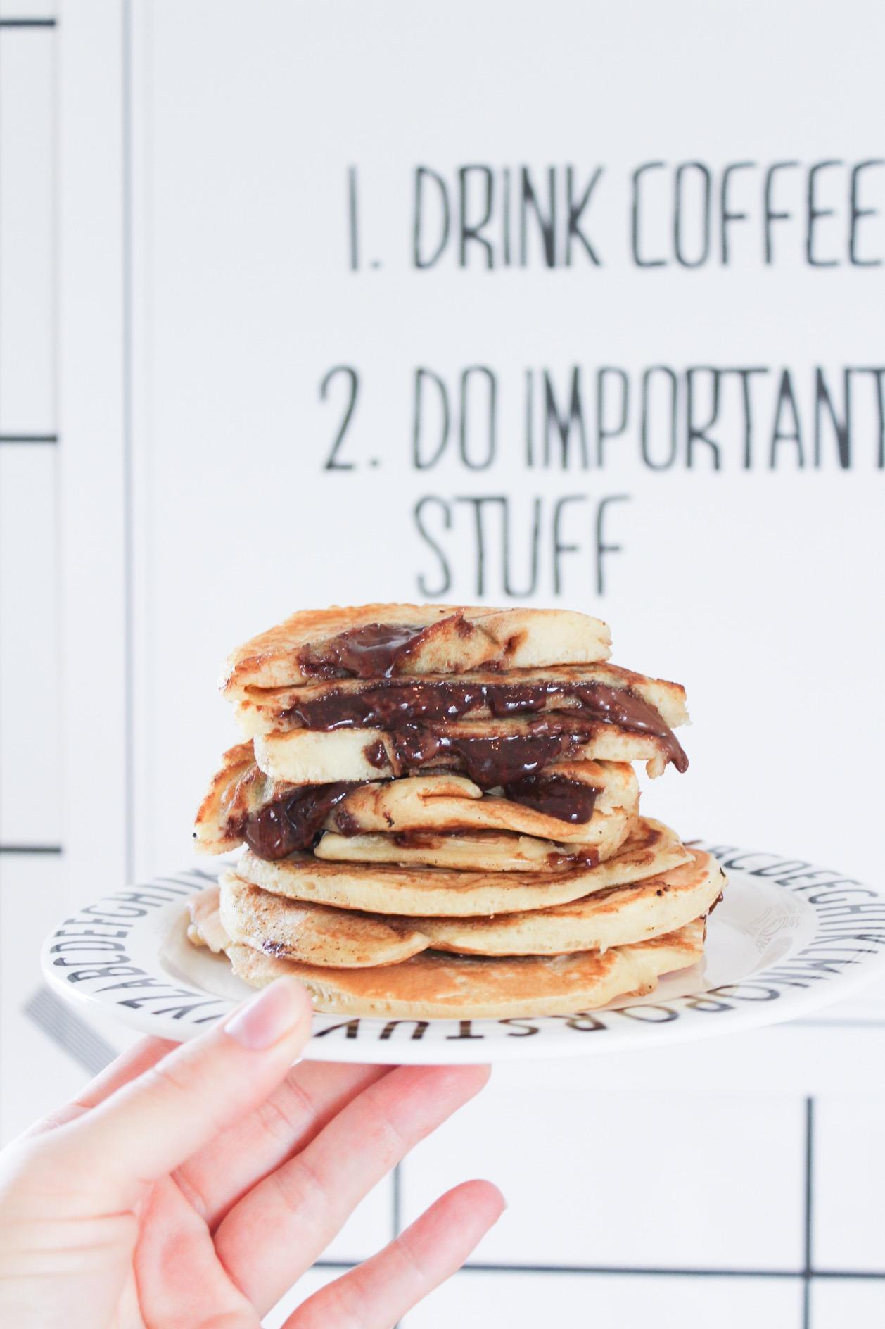 Pannkakor med Nutellafyllning