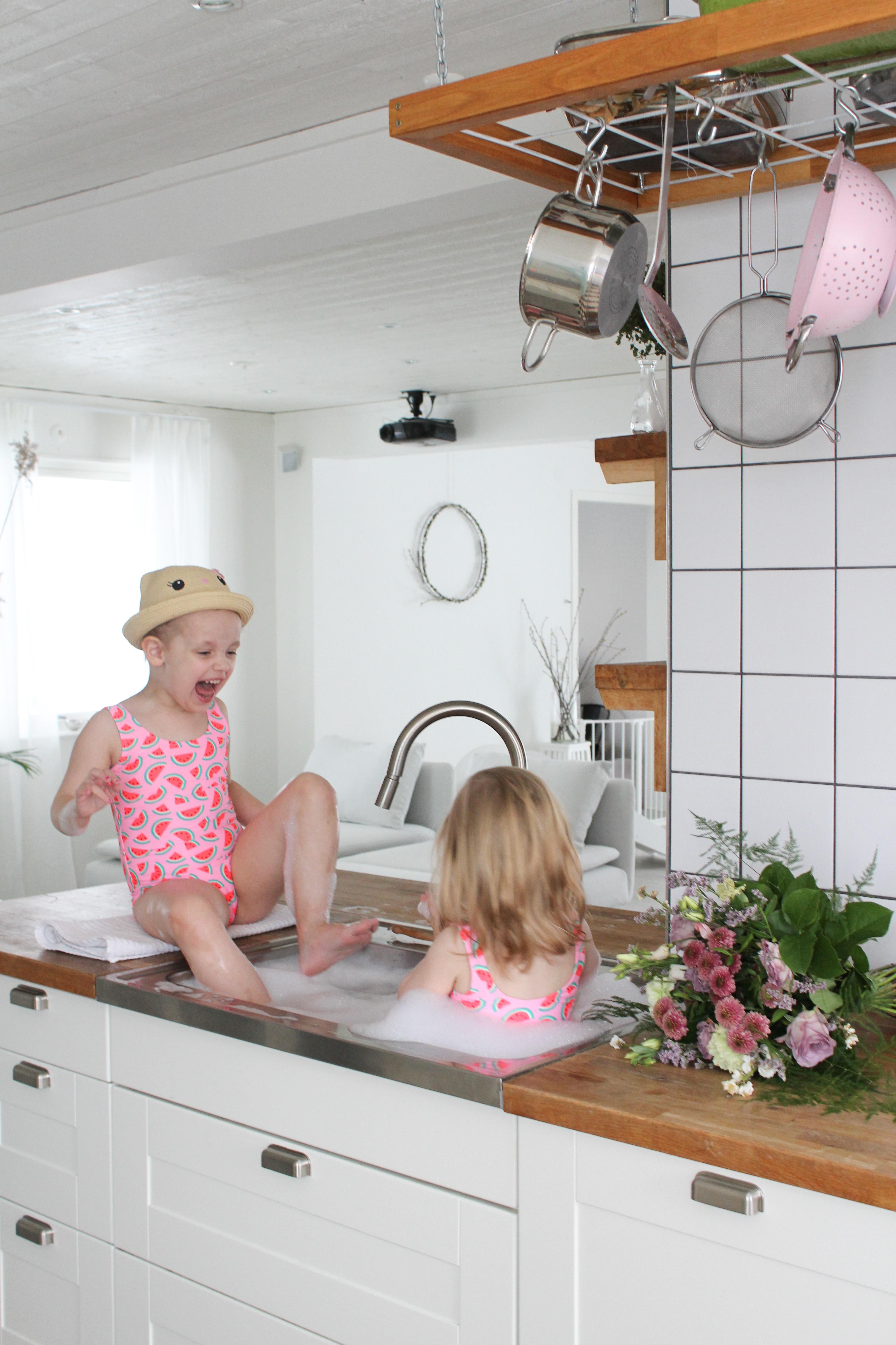Påskbad i köket och veckans planer