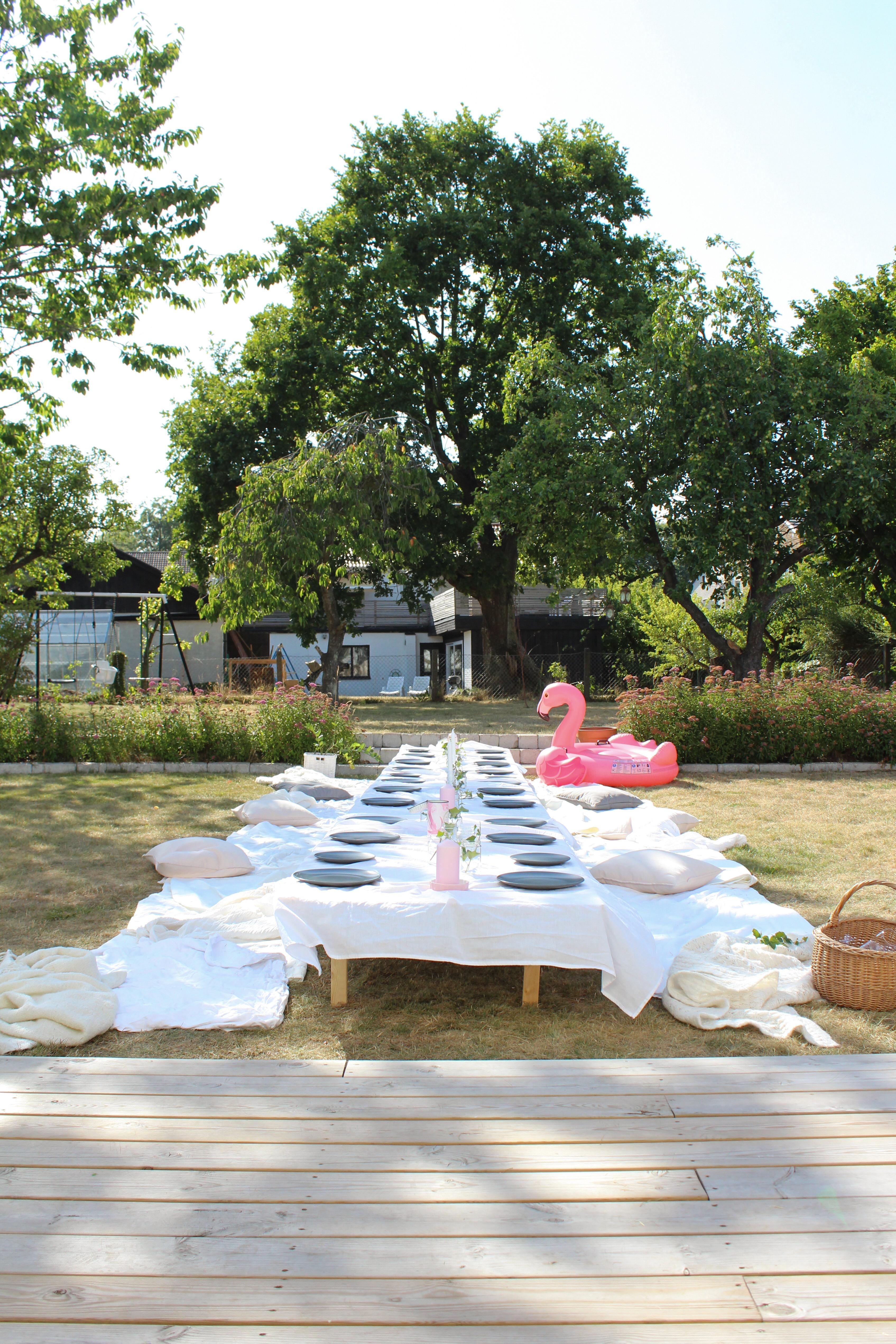 Trädgårdsfest och churros