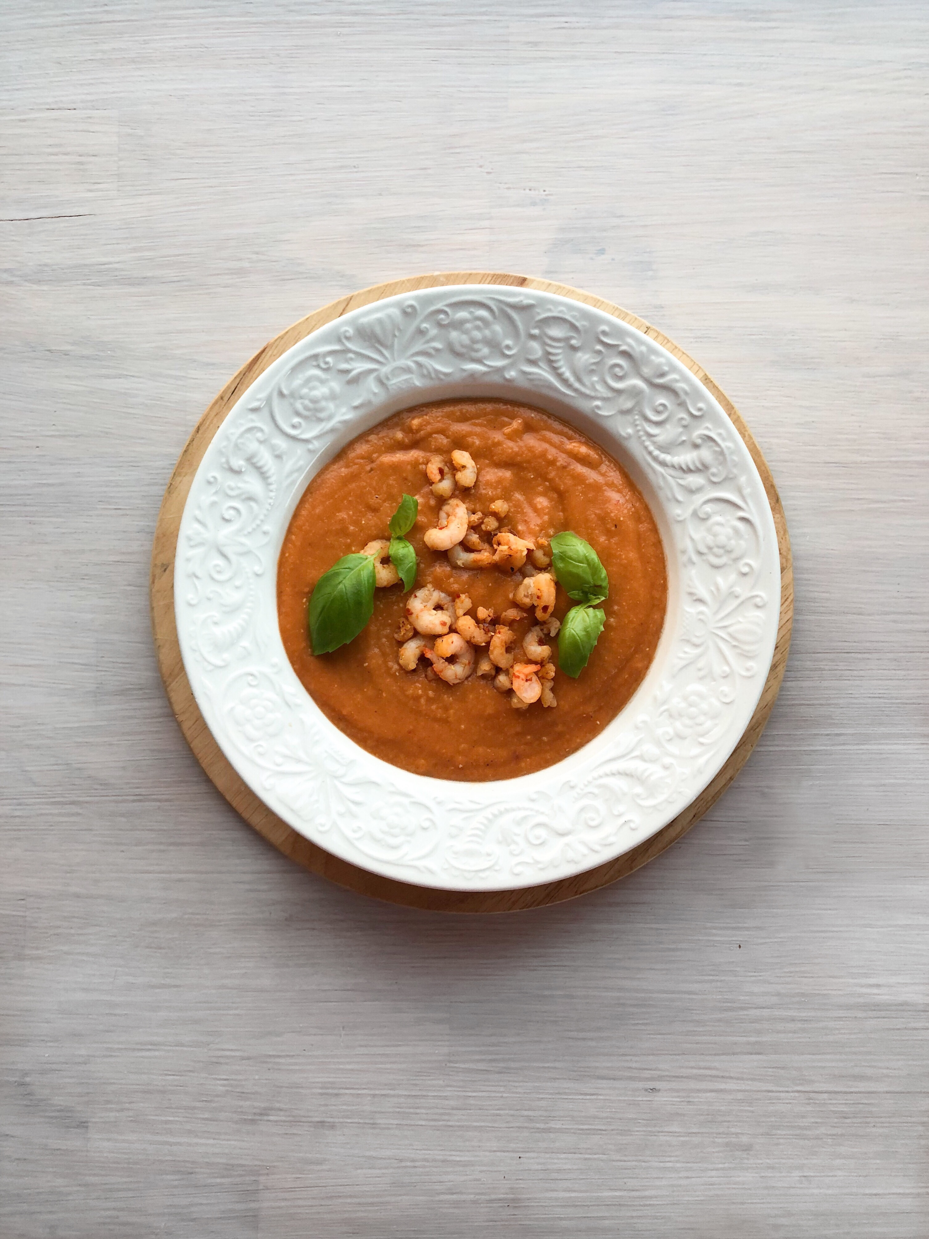 Mattipset: Linssoppa med chilifrästa räkor